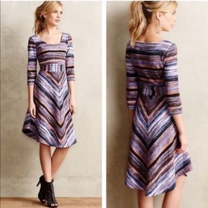 Anthropologie Maeve Kebren Stripe Midi Dress